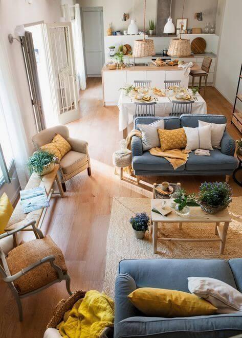 bútorozás, nappali, étkező, konyha, lakberendező, Elszigetel és összeköt - a lakberendező szerint