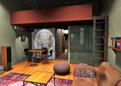 Belvárosi lakás terve fiatalok számára