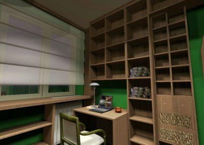 Dolgozó szoba 3D látványterve