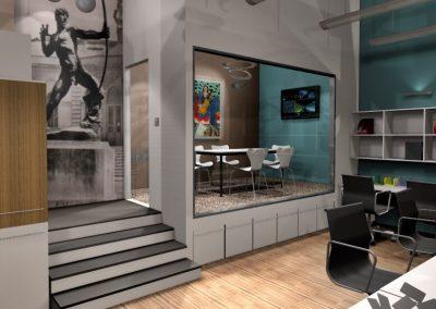 Iroda átalakítás egy Andrássy úti épületben – 3D terv