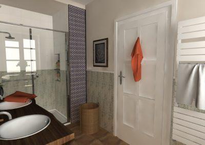 Fürdőszoba 3d látványterve